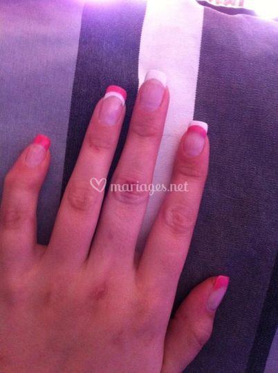 Ongles gel sur ongles naturels