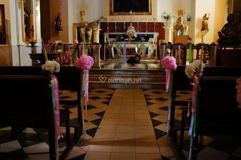 Cérémonie deco église