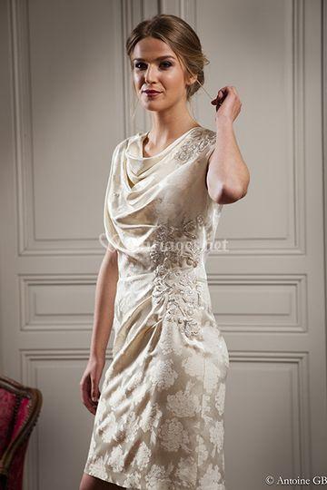 Détail Robe de mariée Maison d