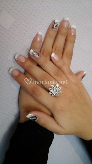 French blanche + nails art