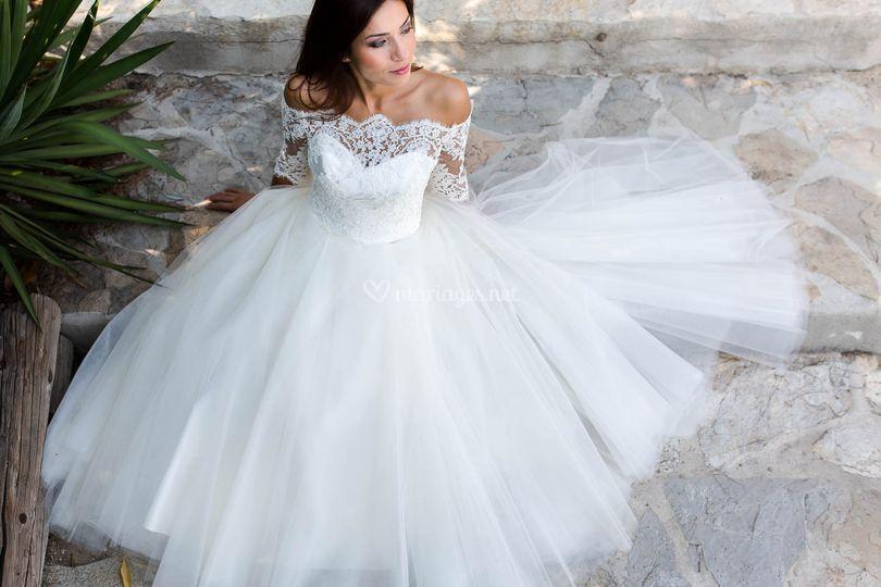 Top fanny mariée de provence
