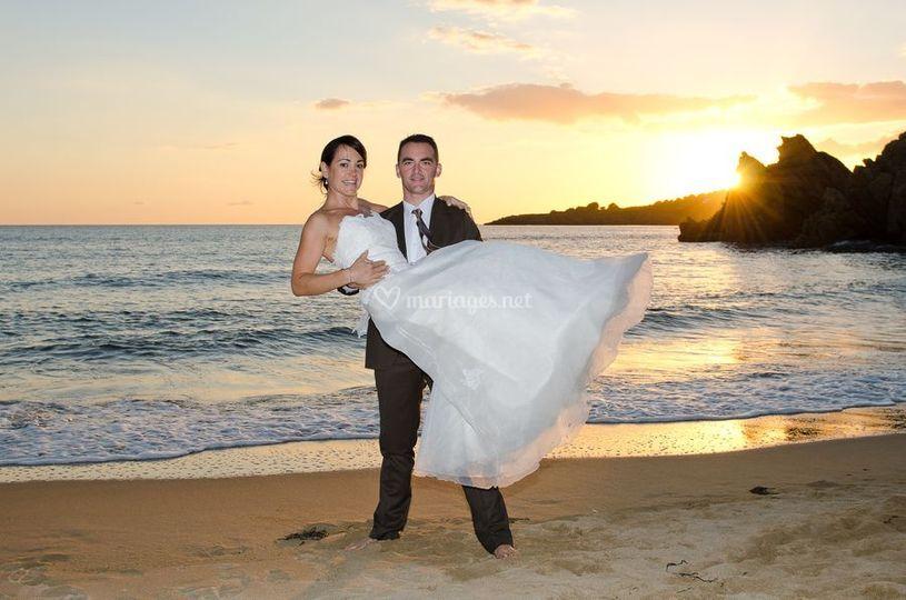Photographe mariage plage fini
