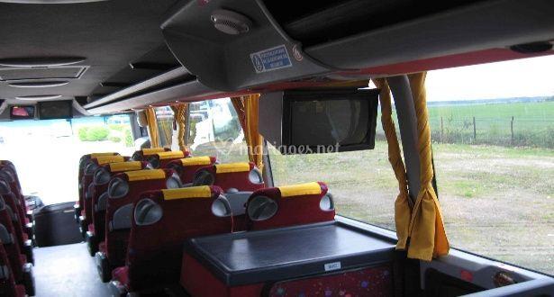 Intérieur autocar tourisme