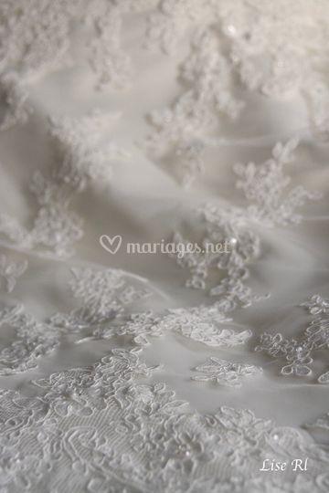 Détails de la robe de mariée