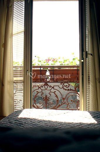 Hôtel, vue de la fenêtre