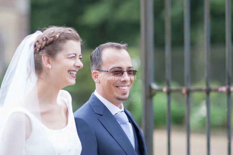 Les mariés accueillent...