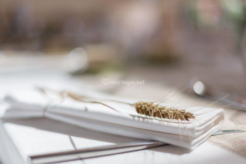 Décoration de table épi de blé