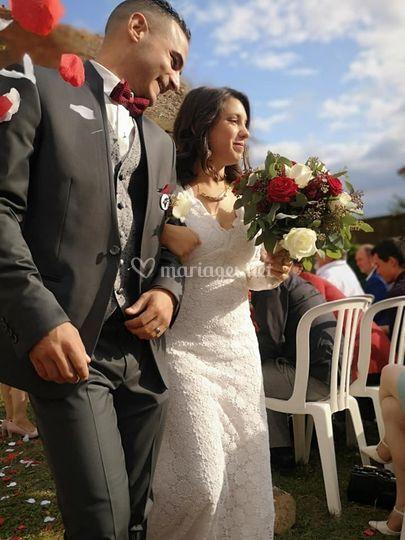Bouquet mariée et broche