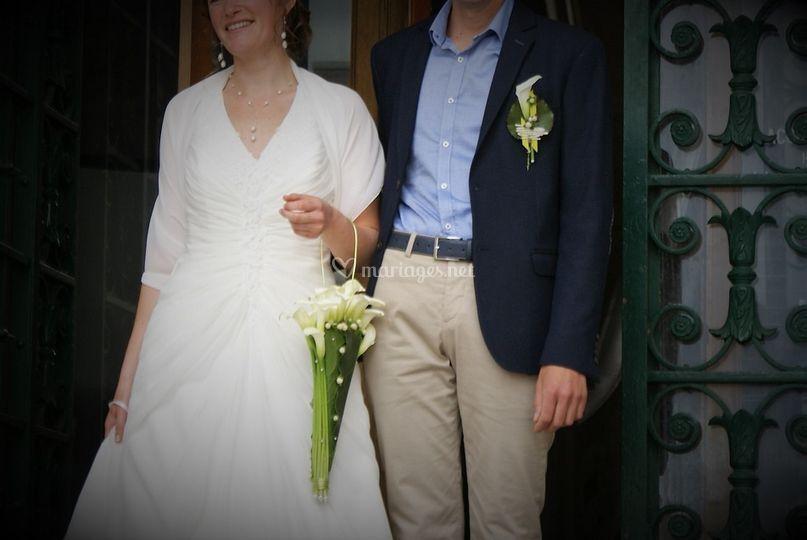 Bouquet/boutonnière des mariés