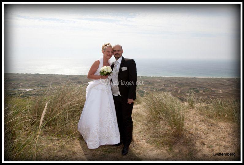 Pose dans les dunes