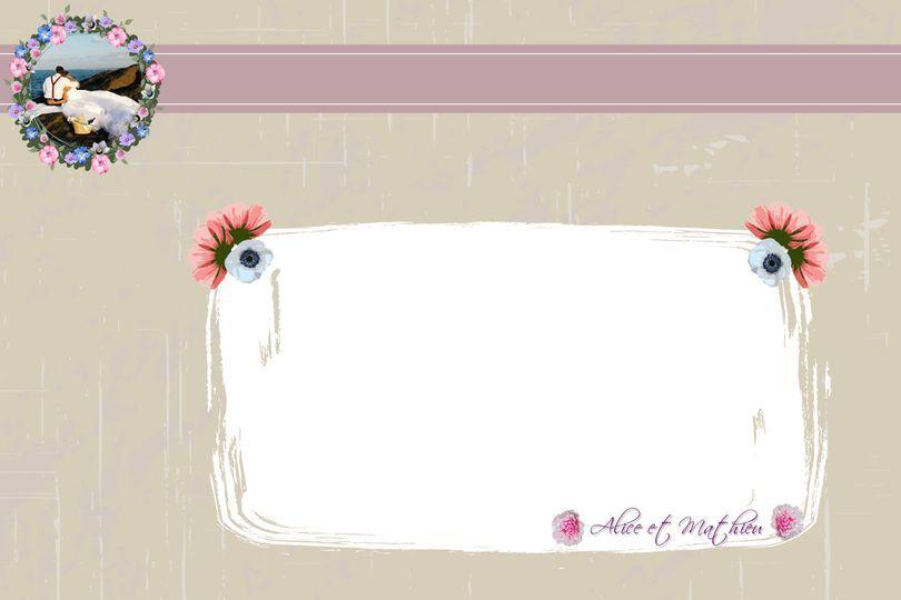 Remerciements floral Verso