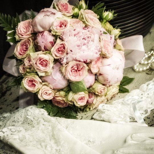 Roses et pivoines....