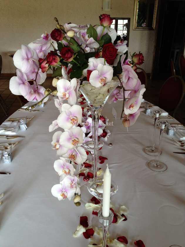 Centre De Table Orchidéesrose De Anne Marie Tracz Photo 6