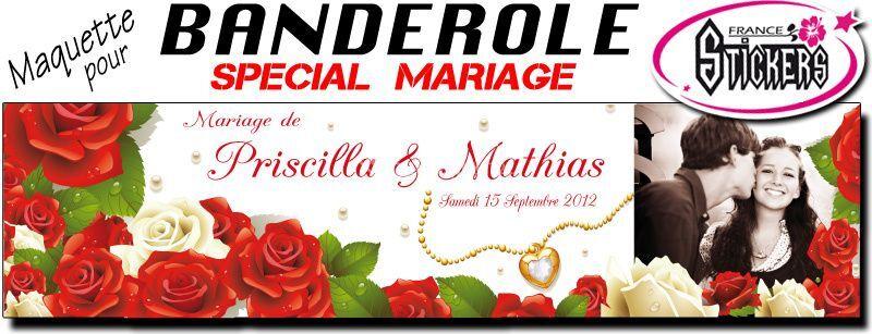 Banderole Mariage