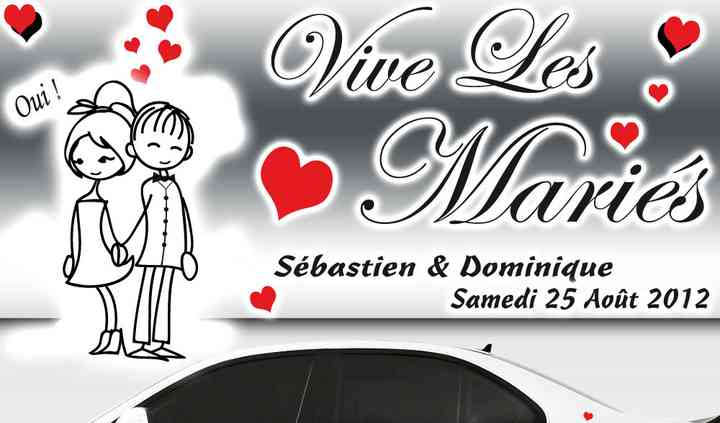 Kit Voiture Mariage Personnage