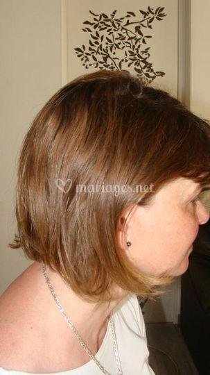 Avant chignon cheveuc court