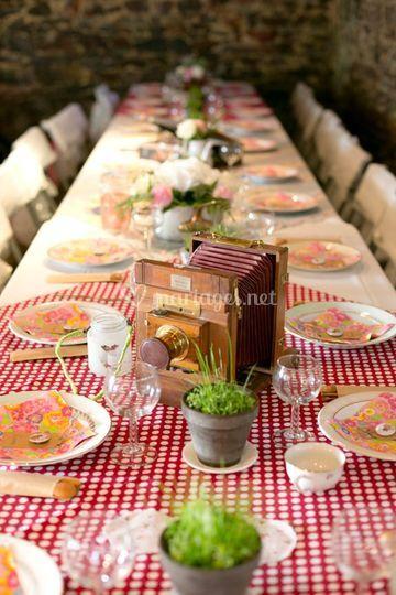 Décoration vintage table