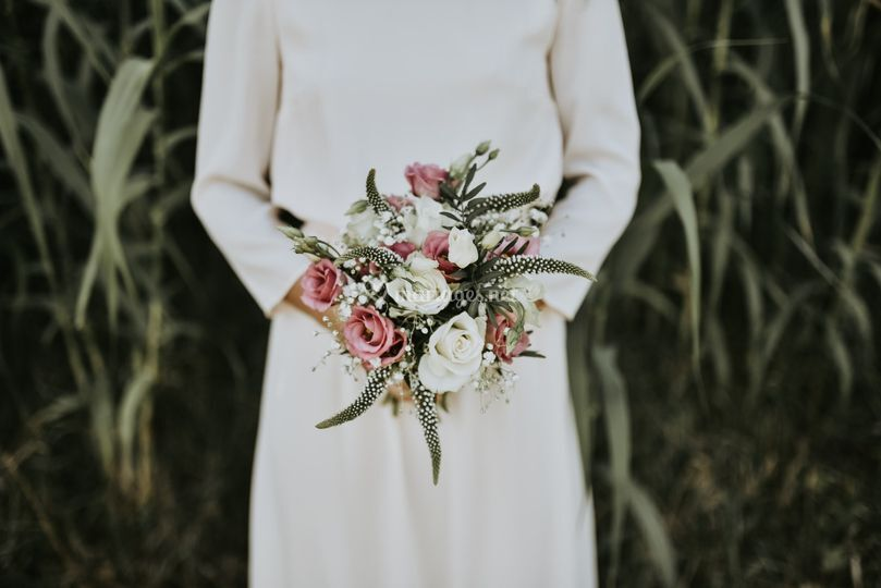 Le joli bouquet de la mariée