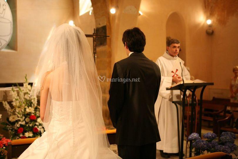 Les époux devant le curé