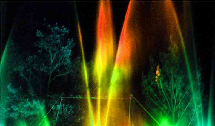 Fontaines musicales et jets d'eau dansants