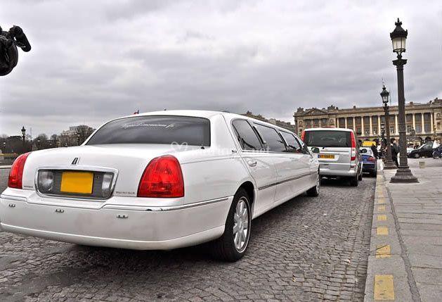 Arrière de la limousine