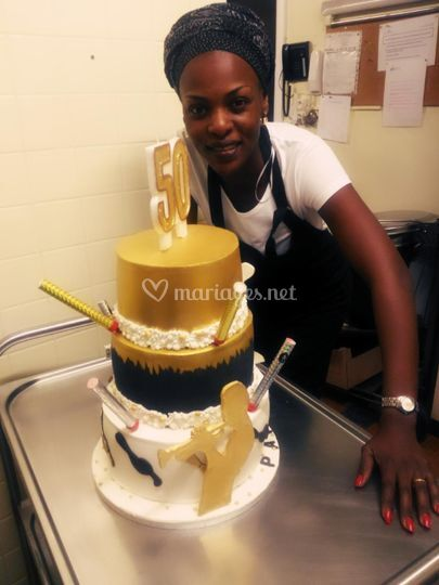 Une pièce montée wedding cake