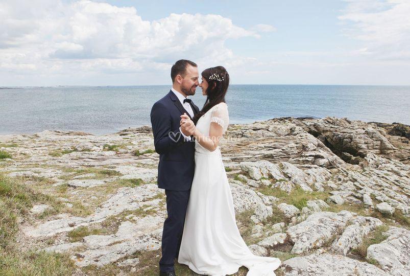 Couple sur la côte