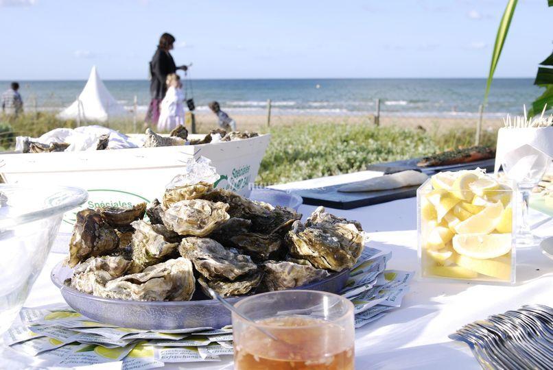 Cocktail : buffet vue sur mer