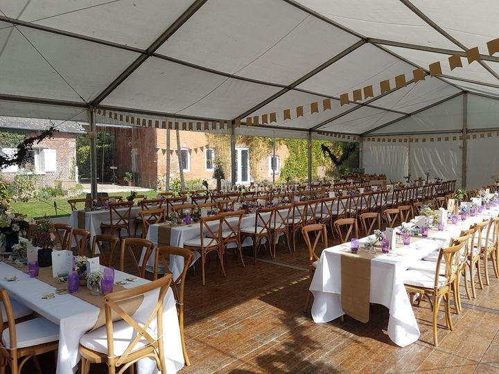 Installation Tente Jardin