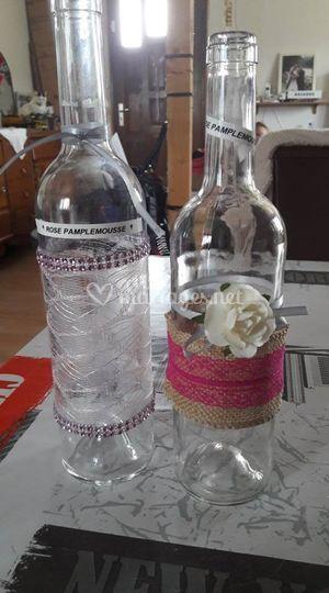 Décoration bouteilles apéro