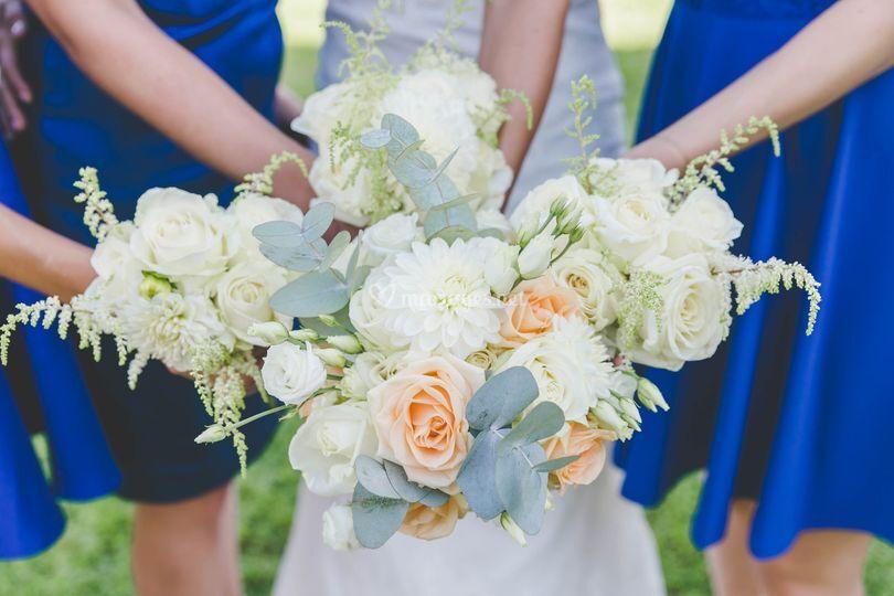Bouquet mariée / témoins
