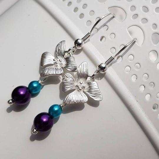 BO Orchidées en Bleu et violet