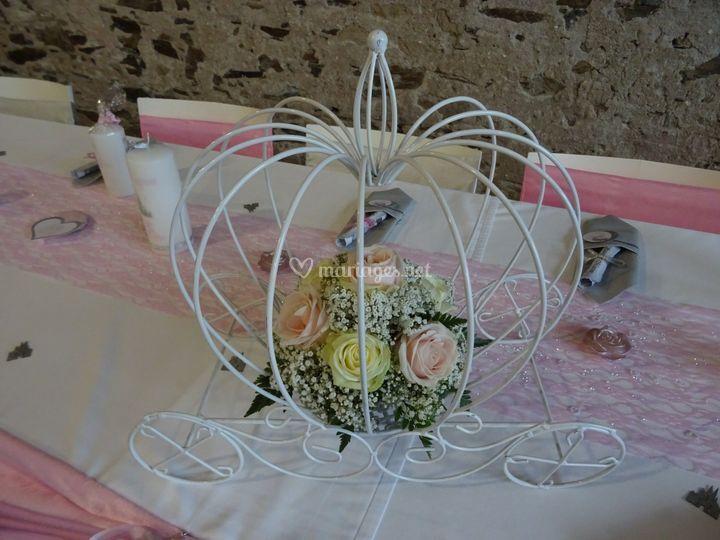 Déco table mariée conte de fée