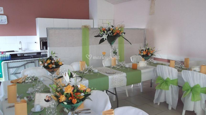 Salle en fleurs