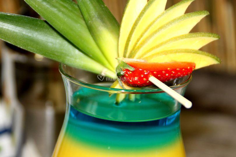 Décoration : mangue fraise