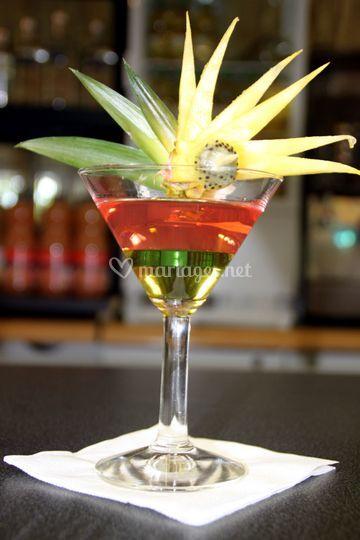 Décoration : ananas kiwi