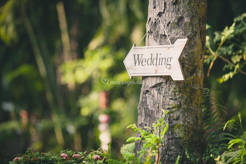 Mariage inspiré de la nature