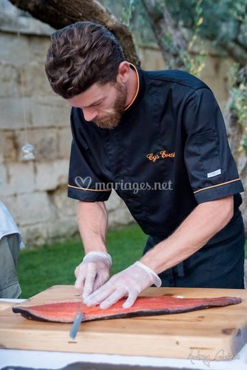 Atelier saumon gravelax