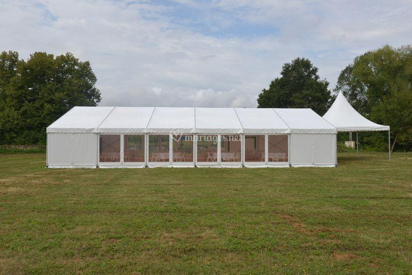 Chapiteau 180 m² et pagode 5x5