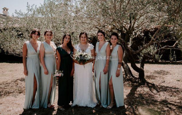 La marié & ses demoiselles