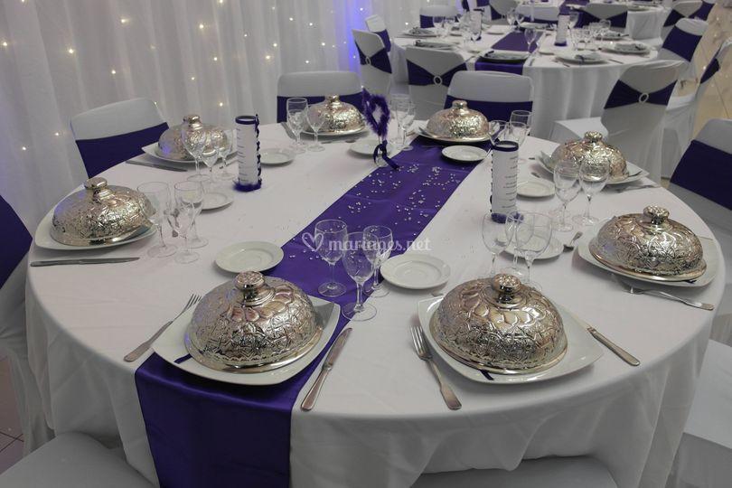 Table des mariées