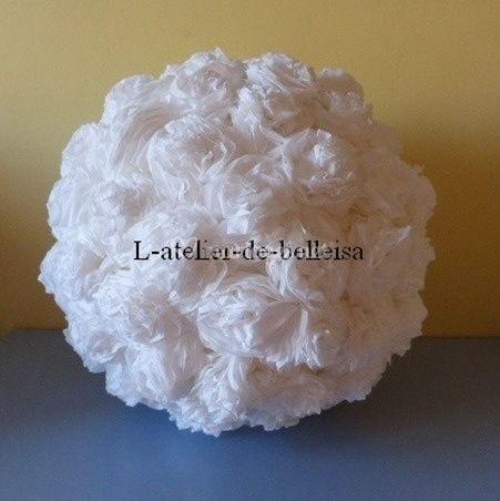 Boule crépon blanche