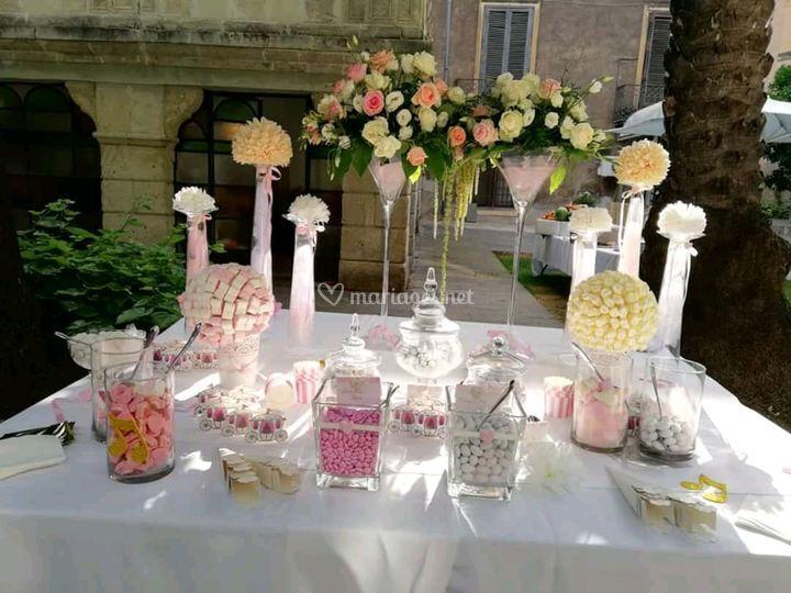 Table dragées - bonbons