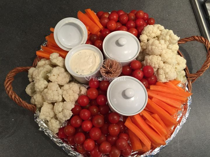 Panier de légumes apéritif
