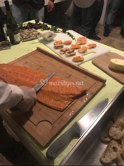 Atelier saumon fumé artisanal