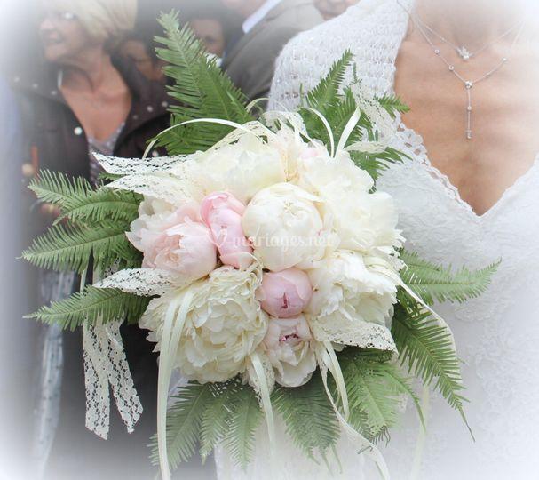 """Bouquet de mariée """"Pivoines"""""""