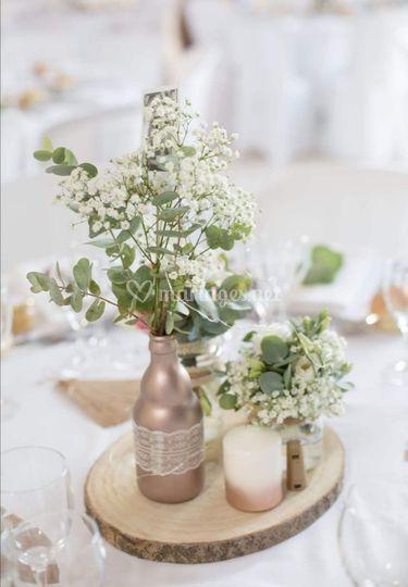 Petite décoration de table cha