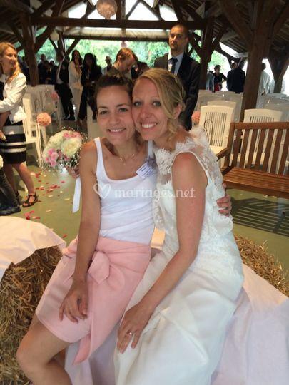 Avec une belle mariée