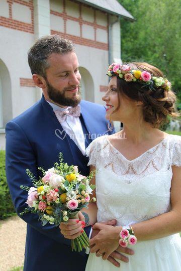 Bouquet de Mariée et couronne