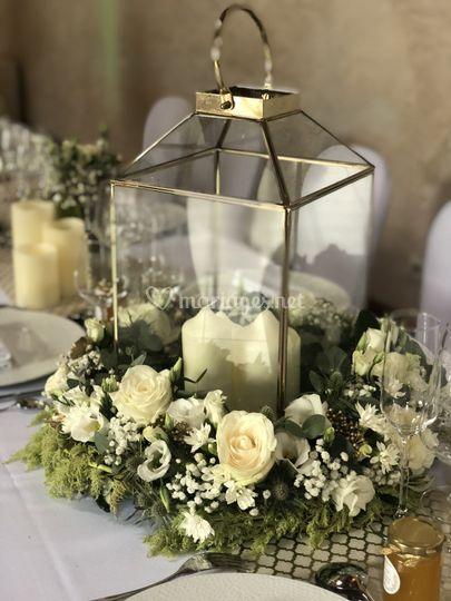 Centre de table lanterne